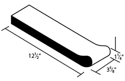 Safety Grip Bullnose Clay Coping