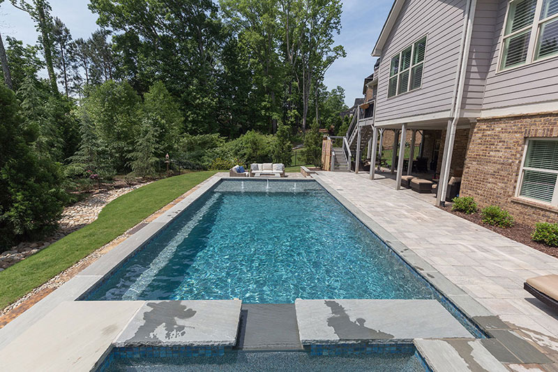 Aqua Blue StoneScapes Pool Finishes