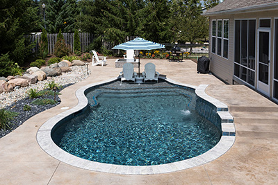 Black StoneScapes Pool Finishes