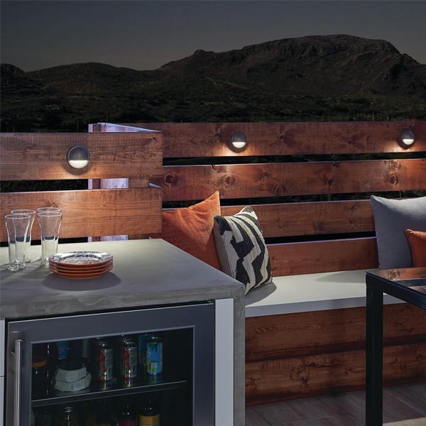 Kichler LED Half Moon Deck Light Fixture