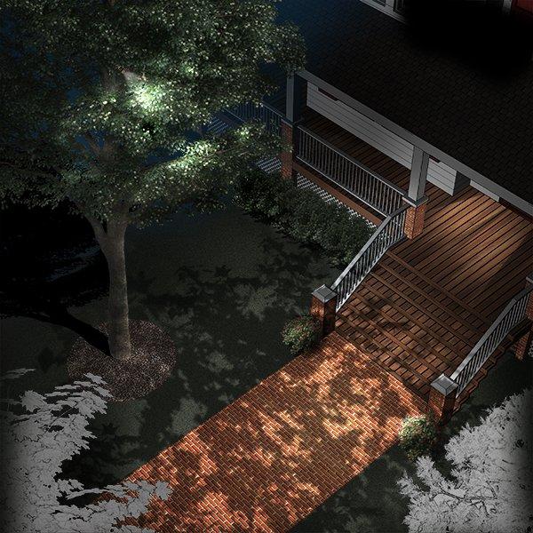 Moonlighting Landscape Illustration