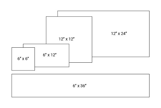 Size reference for large-format tiles